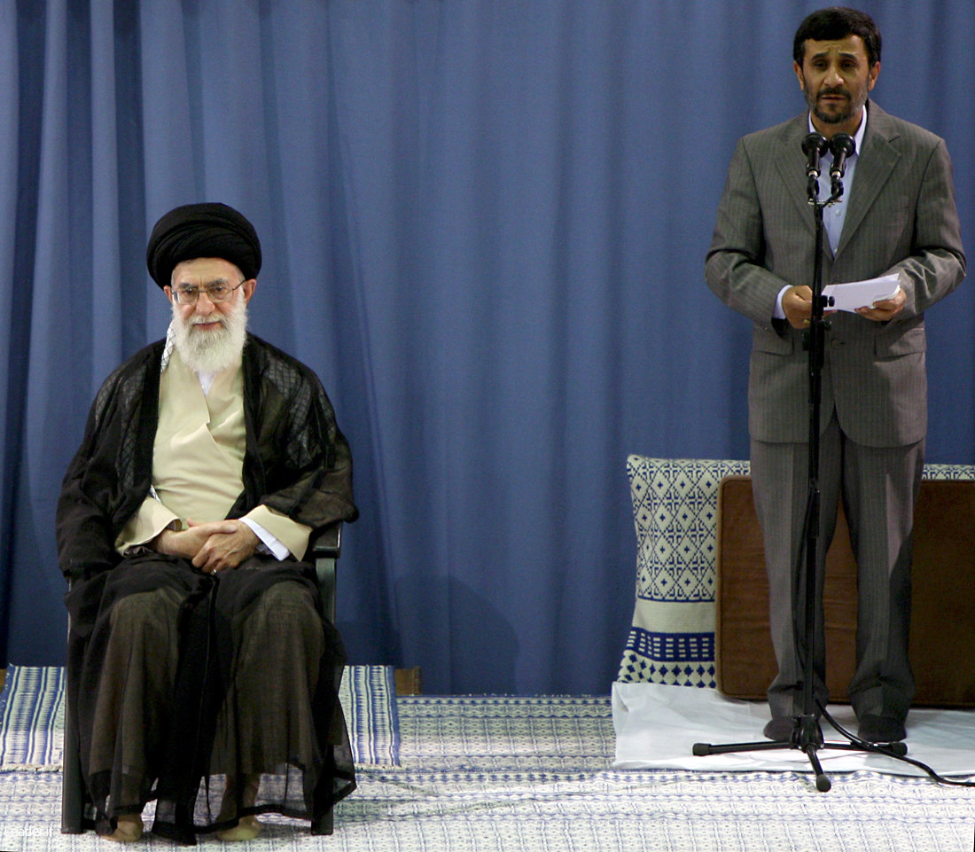 Khamenei and Ahmadinejad