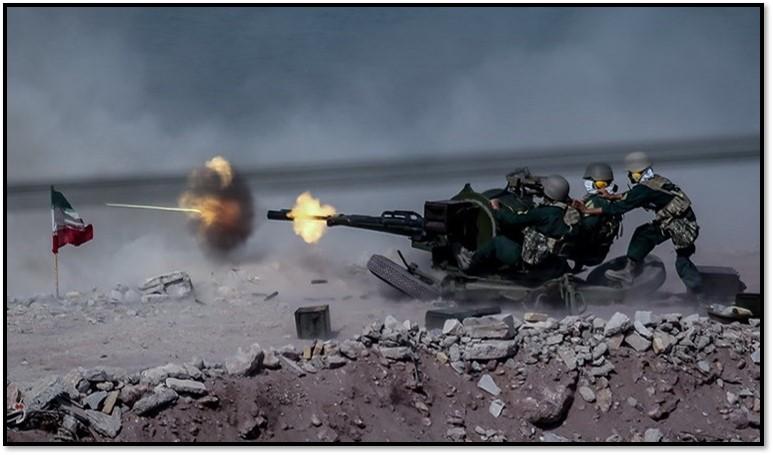 IRGC fires anti-aircraft gun