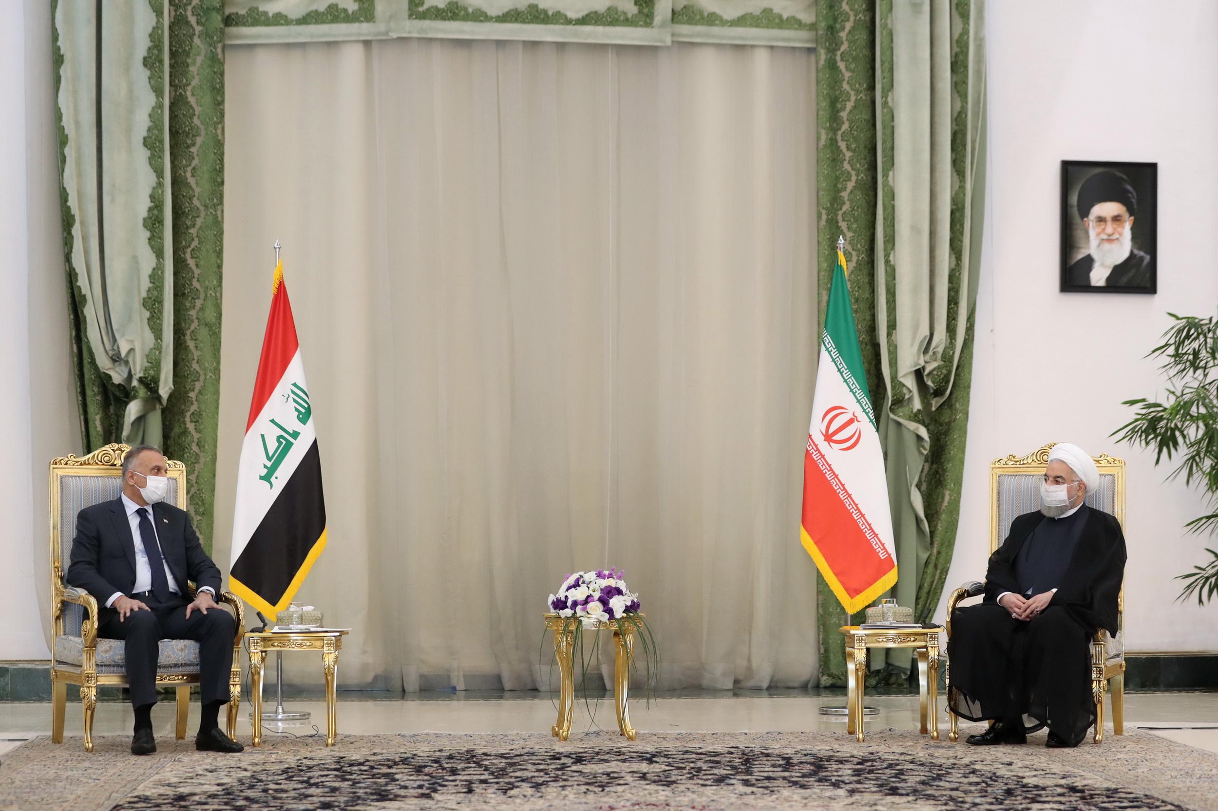 Kadhimi and Rouhani meet