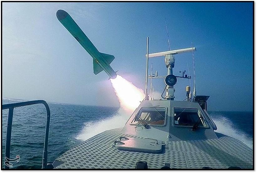 Boat fires missile