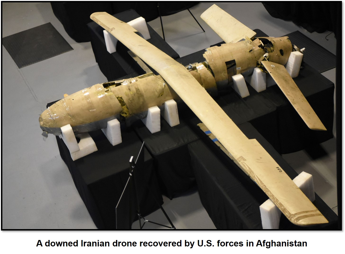 Downed Iranian drone
