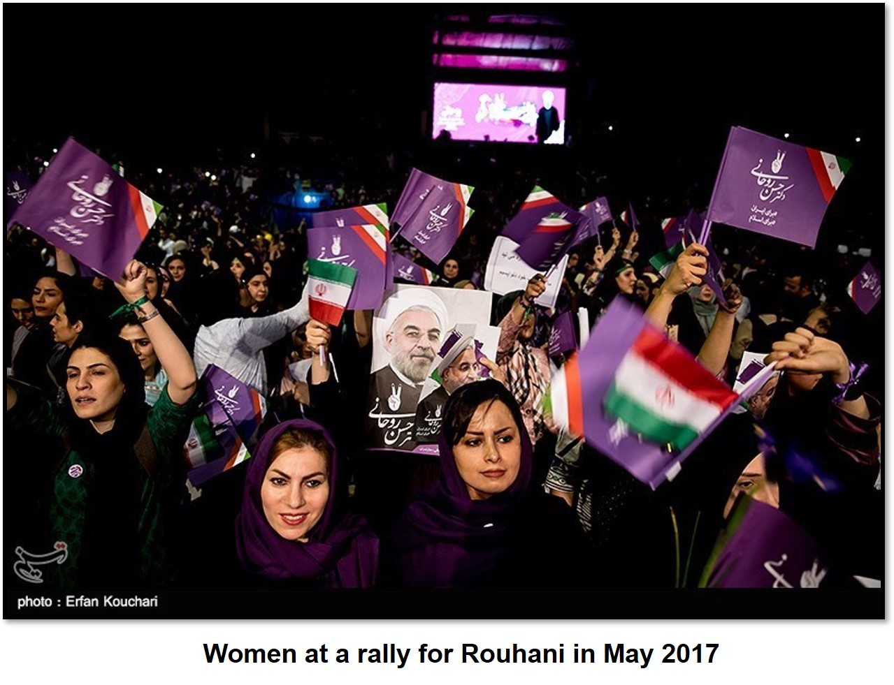 Rouhani female supporters
