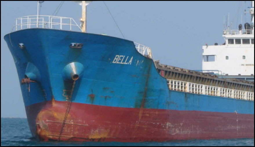 The Bella, one of four Iranian tankers seized by the United States while en route to Venezuela