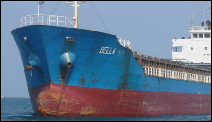 The Bella, one of the four tankers seized by the DOJ