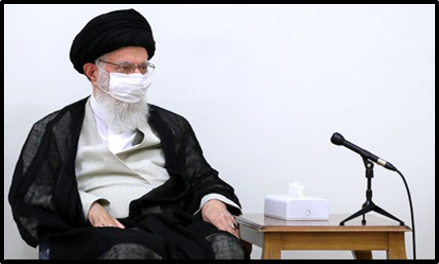 Supreme Leader Khamenei wears a mask