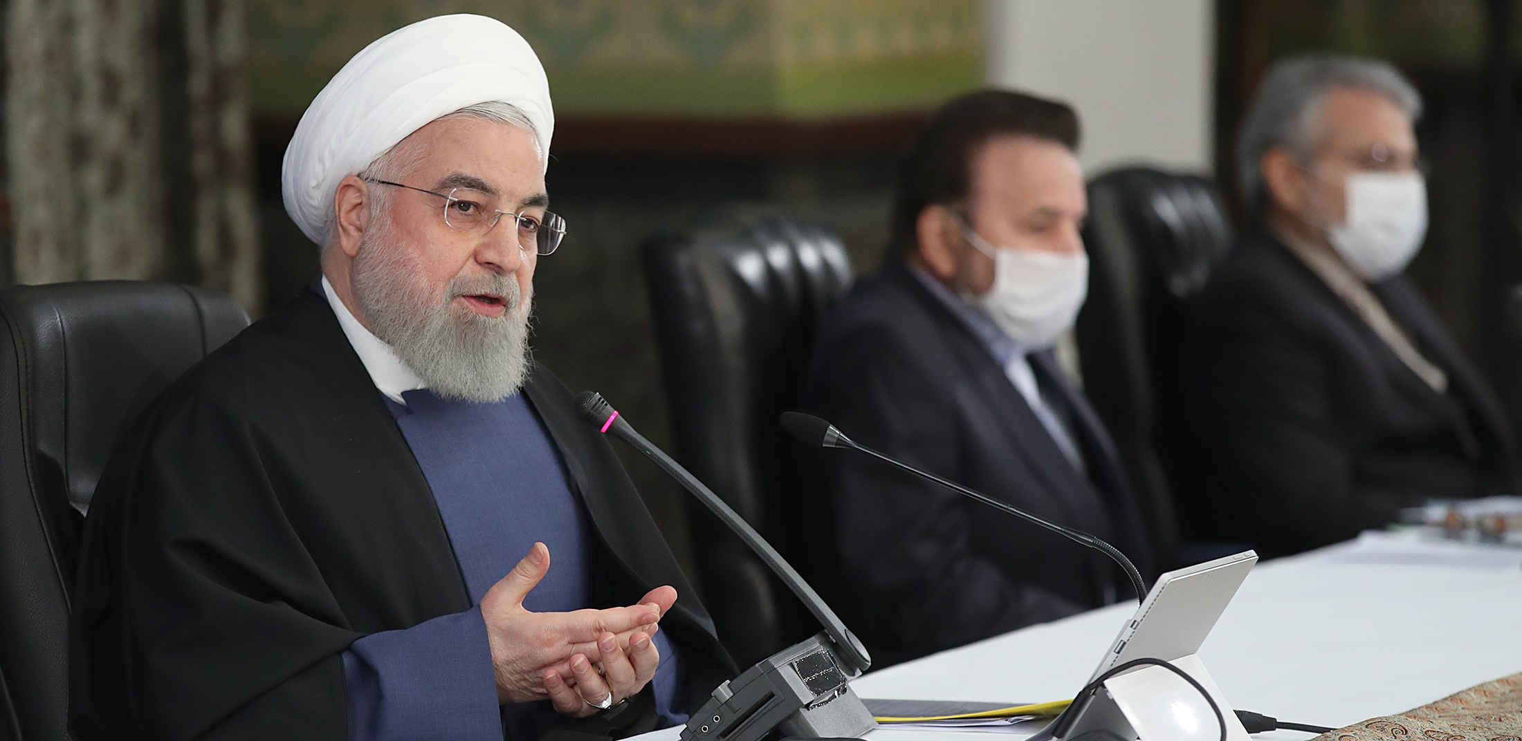 Rouhani during a cabinet meeting