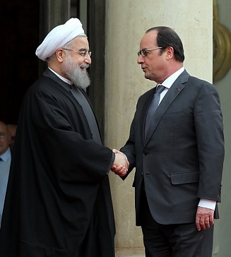 Rouhani and Hollande