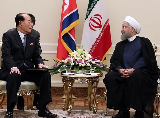 Kim Yong Nam and Hassan Rouhani