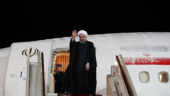 Rouhani leaving Moscow