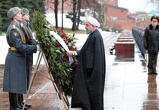 Rouhani at memorial