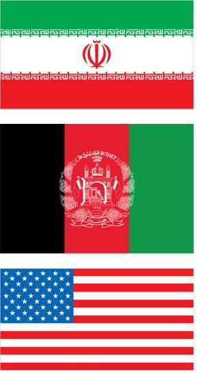 IRI AF USA flags