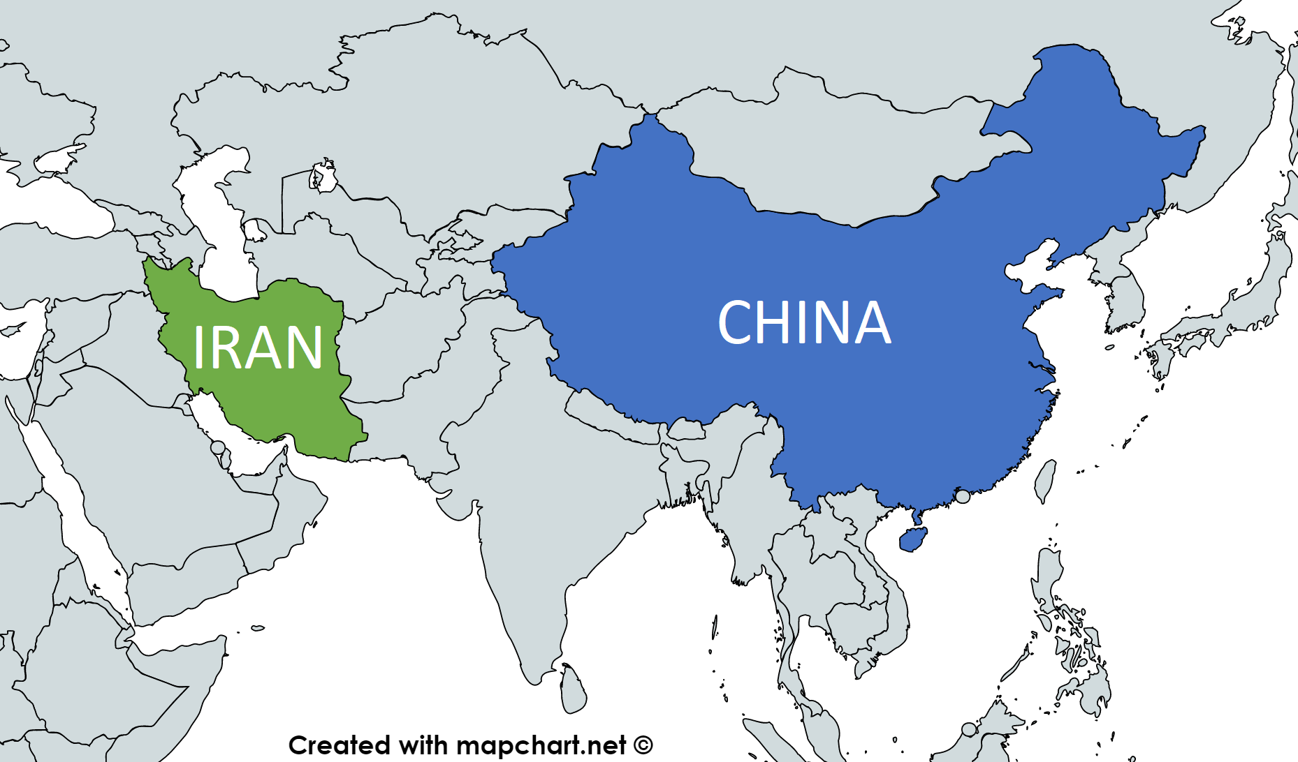 Iran-China Map