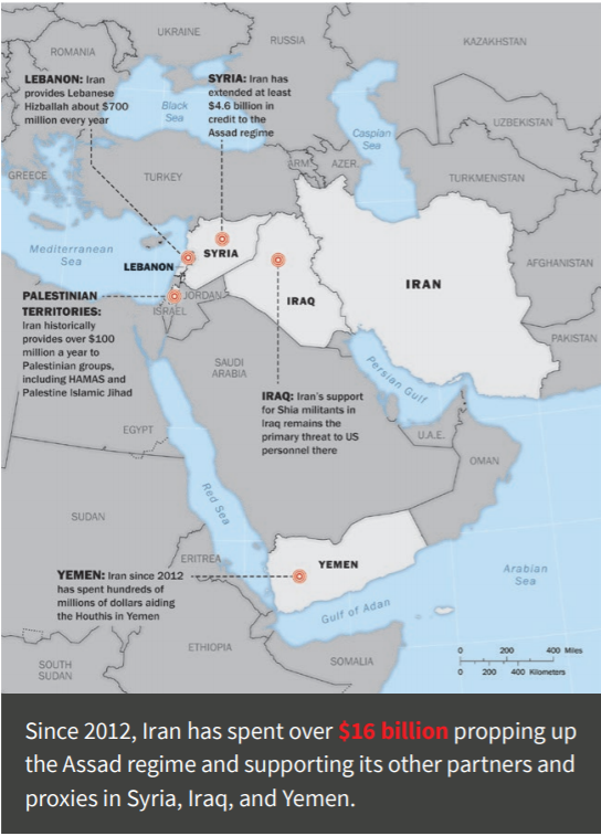 Iran proxies and partners map