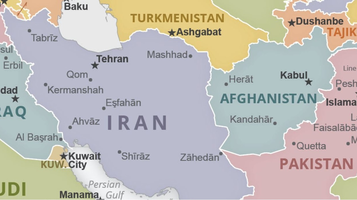 Iran and Afghanistan map