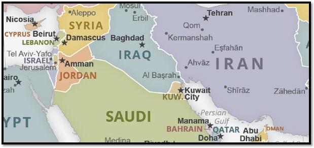 Israel Iran map