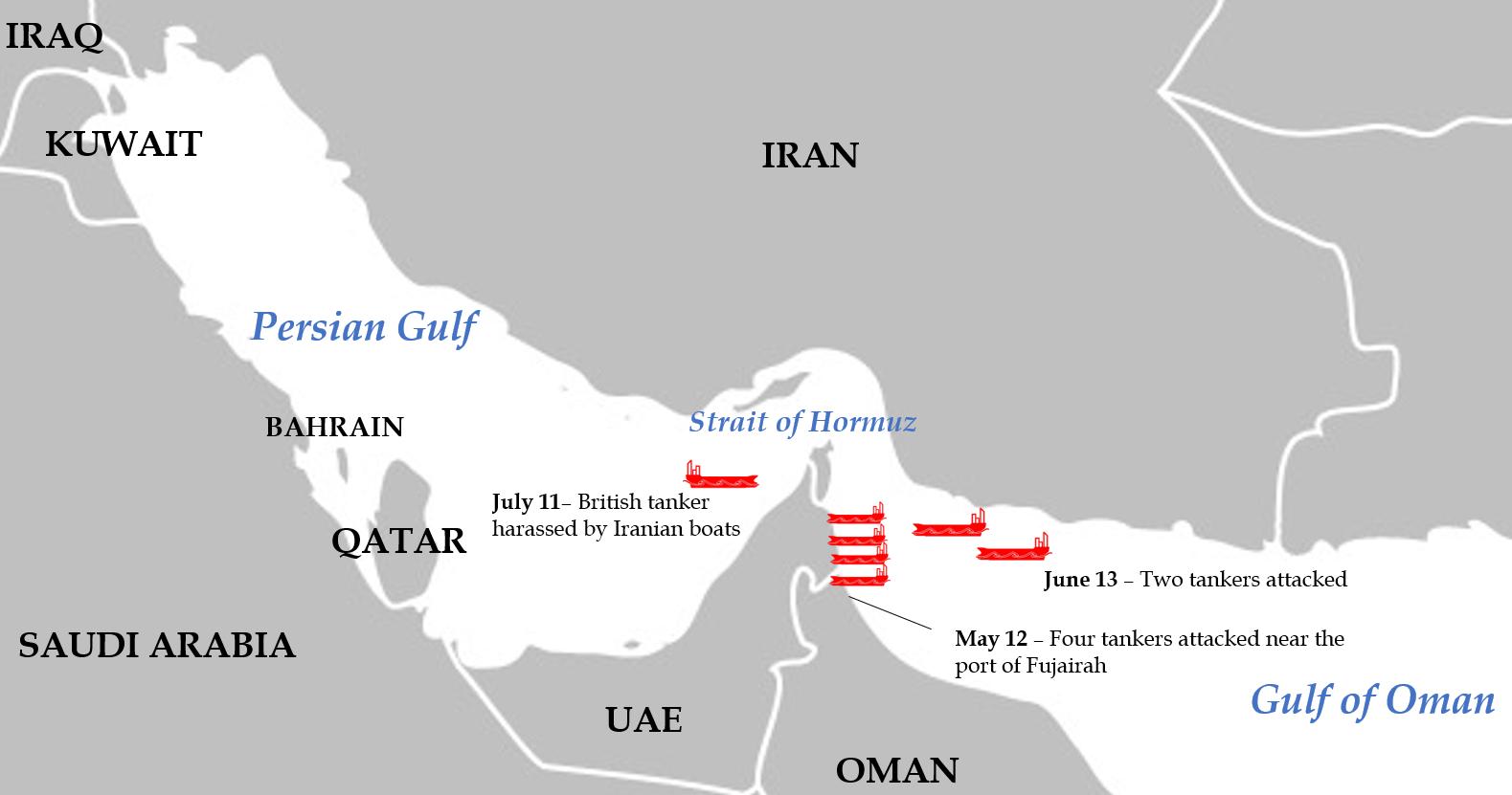 Tanker map