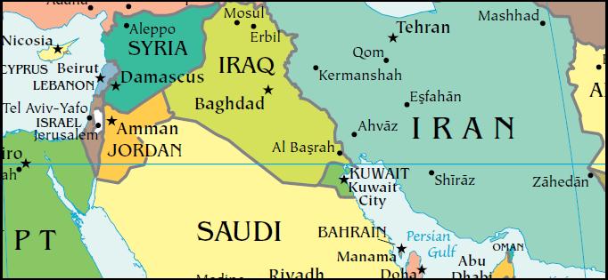 Levant map