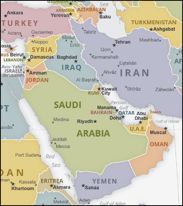 KSA IRI map