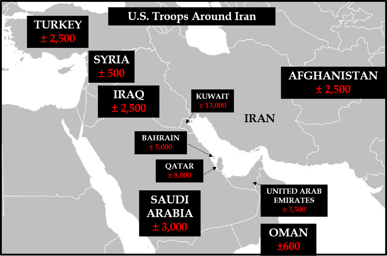 US Troops Around Iran