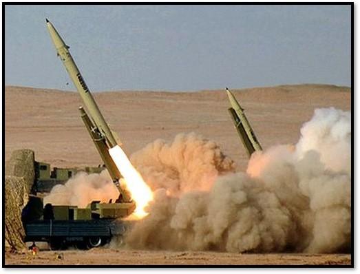 A Fateh-110 fired in an Iranian war game