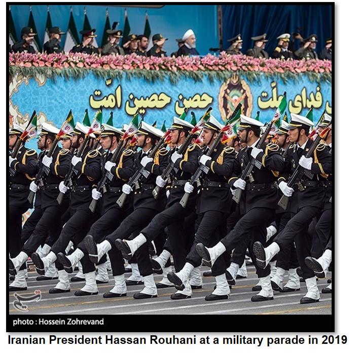 Rouhani parade