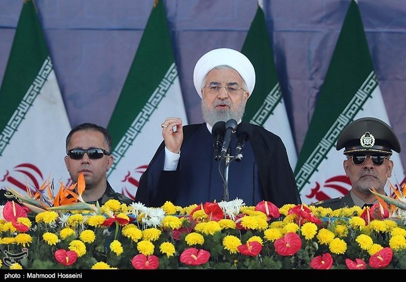 Rouhani at a military parade