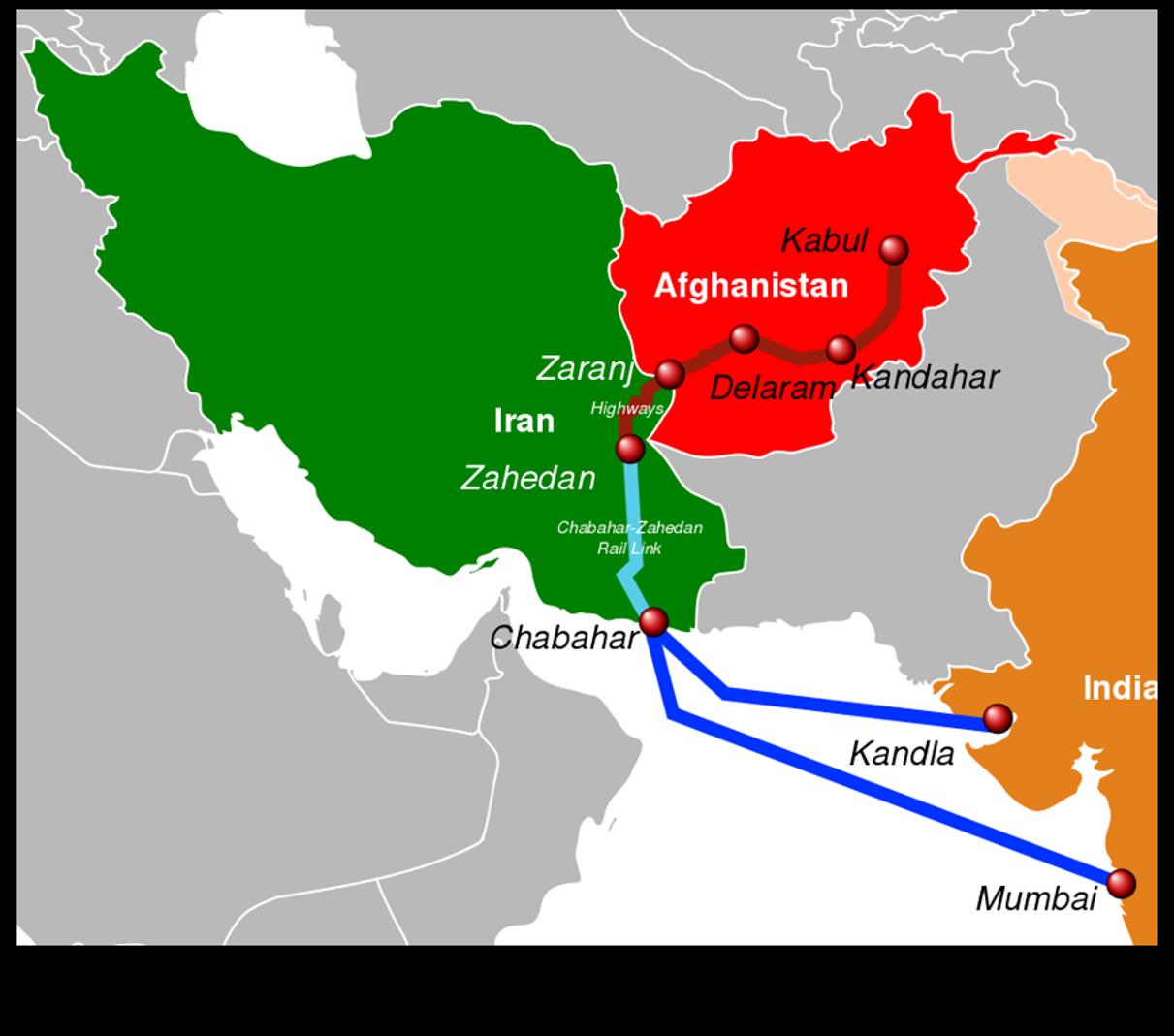 Chabahar map