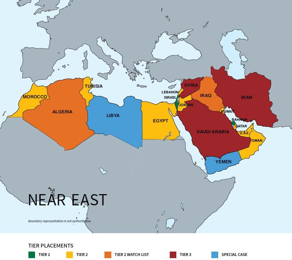 DoS regional map