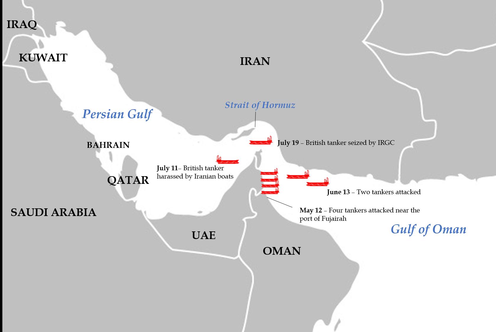 Tanker Crisis Map