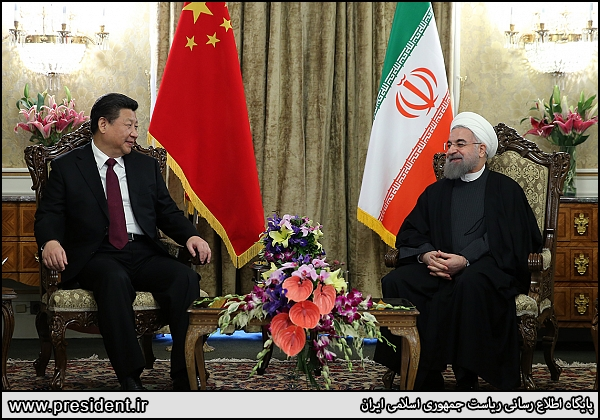 Xi Jinping and Hassan Rouhani