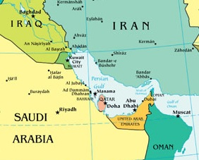 Timeline USIran Naval Encounters The Iran Primer - Map of us navy 5th fleet area of responsibillity