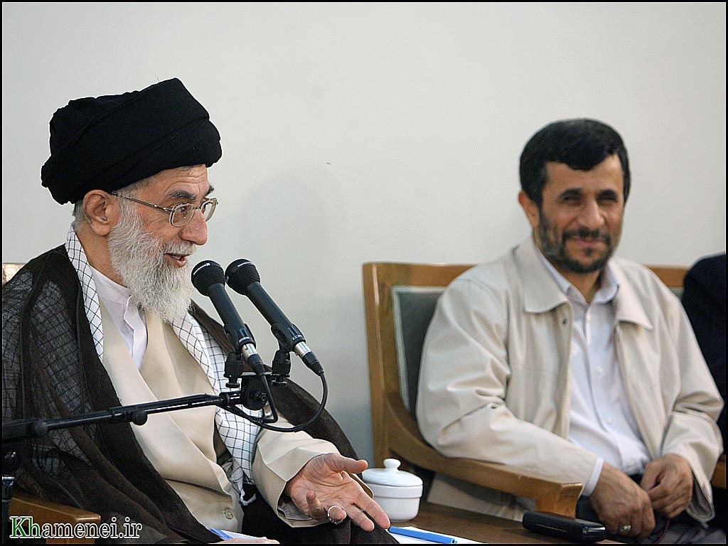 Ahmadinejad and Khamenei