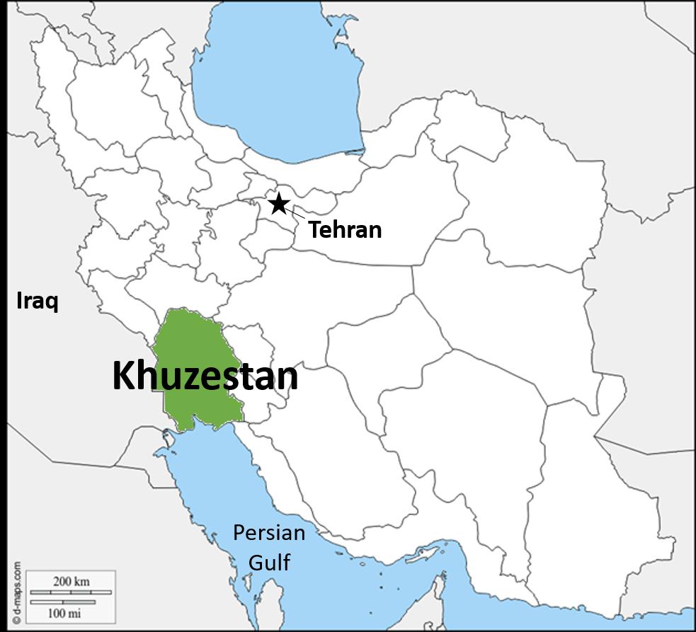 Khuzestan map