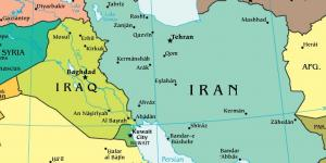 Iraq Iran map