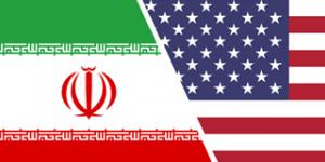 US-Iran flags