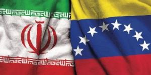Iranian and Venezuela Flags