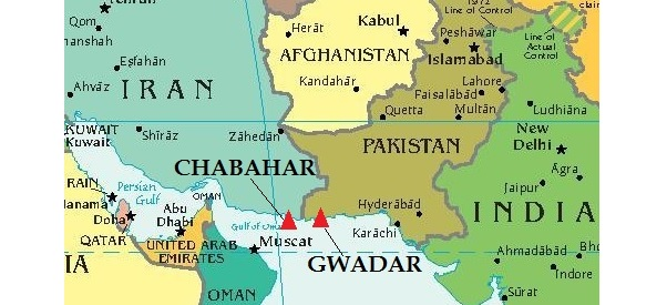 Iran and the Region in 2015 – Map of Iran and India