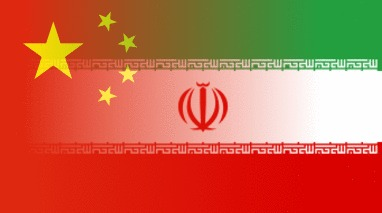 Iran-China Flags